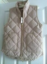 NWT J.Crew Excursion Quilted Puffer Vest Size XS S M L Warm Bisque