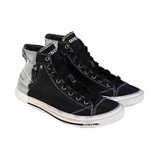 Diesel Mens Exposure I Blue White Textile High Top Sneakers Shoes