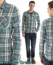 New Mens Superdry Greaser Shirt AA