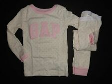 NWT Baby Gap 2T 5T/Years Arch Logo Dot 2 Piece Pajamas Long Sleeve New