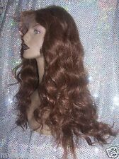 Full Lace Wig Wigs 100% Indian Human Hair Remi Remy #5 High Quality Custom Made