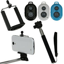 Selfie Bluetooth Remote Control Self-Time Shutter + Extendable Monopod for Phone