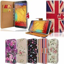 RETRO PRINTED LEATHER FLIP CASE COVER FOR SAMSUNG GALAXY NOTE 3 NEO N7502 N7505