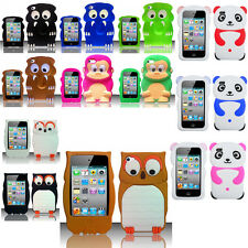 For iPod Touch 4 4th Gen Rubber 3D SILICONE Skin Gel Case Phone Cover Accessory