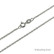 Various 925 Sterling Silver 1.2mm Rope Chain Link Necklace Spring Bolt Clasp
