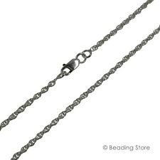 Various 925 Sterling Silver 1.85mm Rope Chain Link Necklace Lobster Clasp
