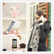 Funny 3D Cute Hello Kitty Plush Toy Doll Cover Case For Various Samsung Phones