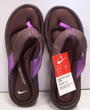 Nike Womens Comfort Thong Brown/Purple sandals - NEW - Free Shipping