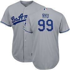 2015 Hyun Jin Ryu Los Angeles Dodgers Authentic Cool Base Road Jersey (40-52)