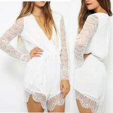 Sexy Women Celeb Lace Playsuit Evening Party Summer Rompers Jumpsuit Short