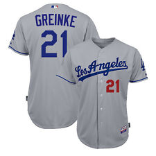 2015 Zack Greinke Los Angeles Dodgers Authentic Grey Road Cool Base Jersey