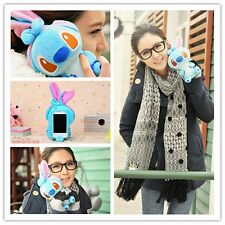 Funny 3D Cute Cartoon Dog Plush Toy Doll Skin Case Cover For Huawei Cell Phones