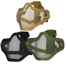 Viper Airsoft Tactical Cross Steel Half Face Mask Protective Black Sand Green