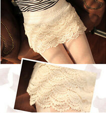 Ladies  Charm Womens Sweet Cute Crochet Tiered Lace Shorts  Short Pants USFT