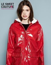 PULL AND BEAR (ZARA COMPANY) RED RAINCOAT JACKET COAT AW14/15 9715307