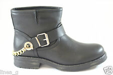 GOLD&GOLD bikers con catena in ecopelle nera A/I 15 - black faux leather bikers