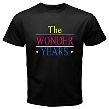 New THE WONDER YEARS TV Show Old School Men's Black T-Shirt Size S to 3XL