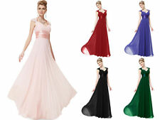 Ladies Luxury Chiffon Long Ball Formal Bridesmaid Dress Prom Ball Gown Wedding