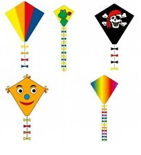 "20"" Diamond Ecoline Kite by HQ with Bow Tie Tails Easy to Fly, Children's Kites"
