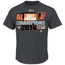 Baltimore Orioles AL East Division Champs Official   Club House Tee  T-shirt