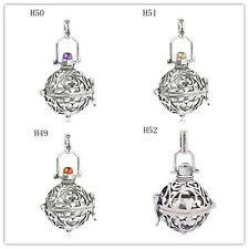 Chime Sounds Harmony Ball Mexican Bola Angel Caller Topaz Locket Pendant