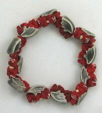 "Hand Painted Ceramic Beads, 1/2"" Red Dragon Design, New"