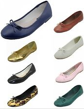 Womens Ballet Flats Ballerina Slip On Casual Shoes New