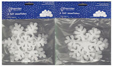 6 Felt Snowflakes Christmas Snow Scene Hanging Ceiling Decoration
