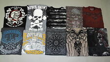 Lot (10) Archaic Rebel Saints AFFLICTION Men T-Shirt TATTOO Biker UFC M-XXL $311
