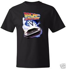 Back to the Future Flying DeLorean Lightning BTTF T-Shirt Avail. in M/W/Y Sizes