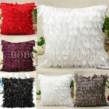 Fashion Taffeta Raised Leaf Soft Pillow Case Sofa Throw Cushion Cover Home Decor