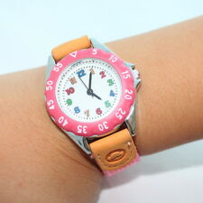 New 5 Colour Choose Fabric Kids Boy Girl Learn Time Tutor Quartz Wristwatch U32
