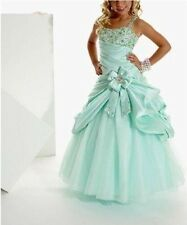 Stock Flower Girl Dress Princess Kid Pageant Party Gown Picture Color 6 8 10 12