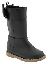 Baby Gap outlet black bow boots. New w tags. Adorable! Size  9, 10, toddler
