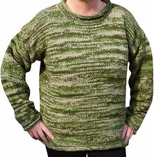 SALE - FAIR TRADE NEPALESE ETHNIC CREW NECK  WOOL JUMPER HIPPY BOHO FESTIVAL