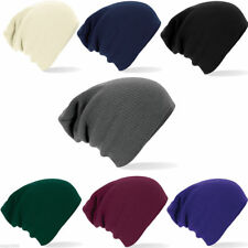 Beechfield B461 Oversized Baggy Knitted Slouch Beanie Winter Hat - Mens - Ladies