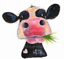 NOSEY COW PRINTS of Original Painting HURLEY BURLEY by SHIRLEY MACARTHUR