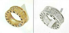 18K Yellow & White Gold Plated Swarovski Crystal Rhinestone Ring size: 6.7.8.9