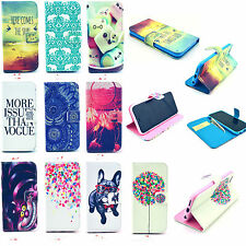 Folio Patterned Wallet Card Leather Stand Case Cover For Samsung Smart Phones