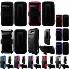 For ZTE Warp Sync N9515 Side Belt Clip Holster Heavy Duty Armor Stand Cover Case