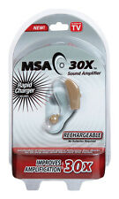 MSA 30X 11-01101 RECHARGEABLE SOUND AMPLIFIER AS SEEN ON TV ITEM NEW AUTH DEALER
