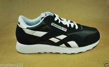 REEBOK Men's Size Classic Nylon Running Shoes Athletic Sneakers Black Medium