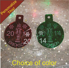 Personalized NUTCRACKER Christmas Ornament Custom Name Engraved Acrylic laser