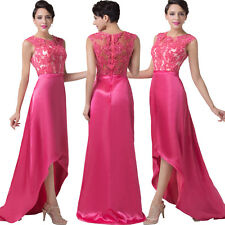 Sexy Applique Sexy High-Low Ball Gown Evening Prom Party Dress 6 8 10 12 14 16 +