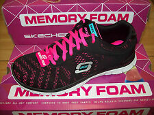 Skechers Scarpe Sport Donna Flex Appeal-First Glance #11886BKHP Nero/Rosa Acceso