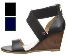 Women's Shoes Tommy Hilfiger ORIOLE Wedge Sandals Heels Black or Navy/ Green