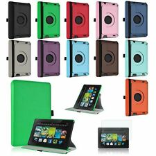 """For Amazon Kindle Fire HD 7"""" 2nd Gen 2013 Rotating PU Leather Smart Case Cover"""