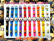 Despicable Me Childrens Watch Uk Seller + Free Gift,Minions Watch, New Batteries