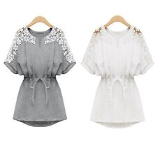 Women Ladies Sexy Lace Floral Casual Short Evening Cocktail Party Mini Dress