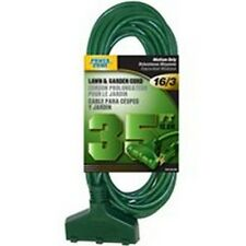 NIB 12/PACK POWER ZONE OR605627 EXTENSION CORD 16/3 SJTW 35FT GREEN TRIPLE-TAP